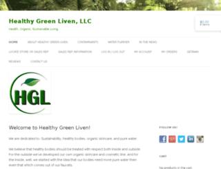 healthygreenliven.com screenshot