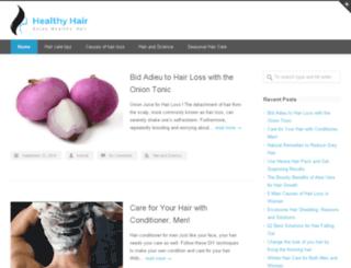 healthyhairforall.com screenshot