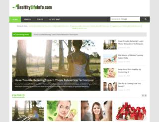 healthylifeinfo.com screenshot