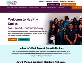 healthysmiles.com.au screenshot
