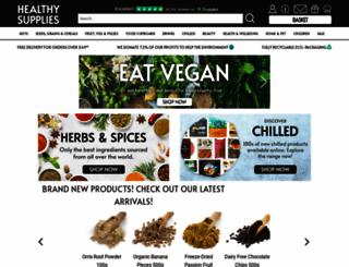 healthysupplies.co.uk screenshot