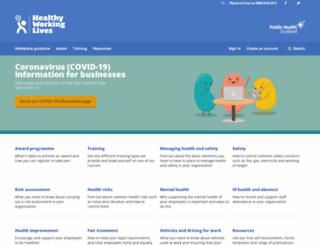 healthyworkinglives.com screenshot