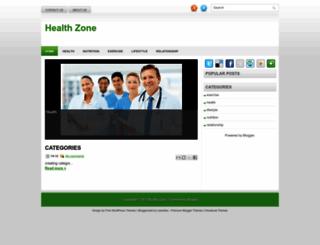 healthzoneinfo.blogspot.com screenshot