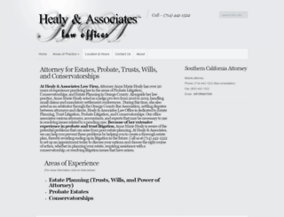 healyassociates.com screenshot