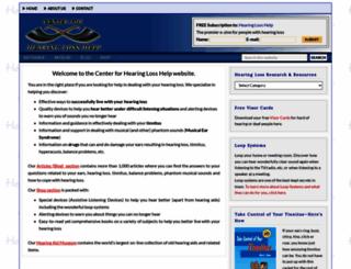 hearinglosshelp.com screenshot
