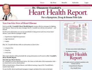 hearthealthreport.com screenshot