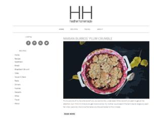 heatherhomemade.com screenshot