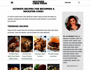 heatherlikesfood.com screenshot