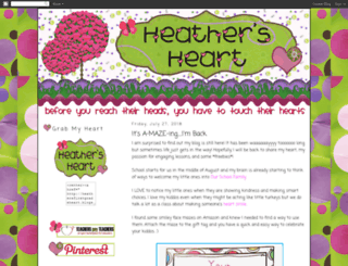 heathersfirstgradeheart.blogspot.com screenshot