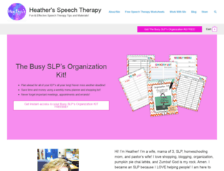 heatherspeechtherapy.com screenshot