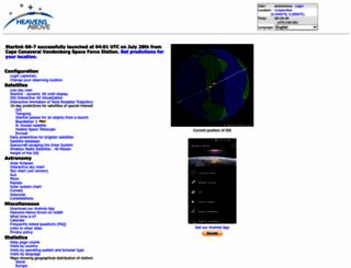 heavens-above.com screenshot