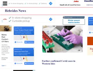 hebrides-news.com screenshot