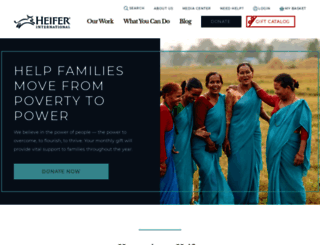 heifer.org screenshot