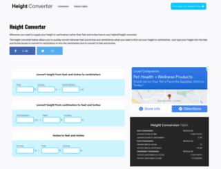 height-converter.com screenshot