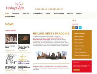 heiligegeestparochie.nl screenshot