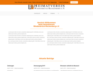 heimatverein-wiedenbrueck.de screenshot
