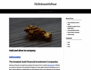 hellobeautifulbear.com screenshot