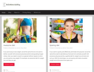hellomaterialsblog.com screenshot