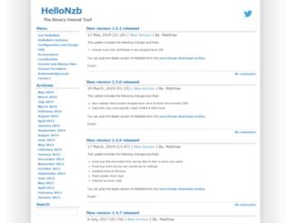 hellonzb.sourceforge.net screenshot