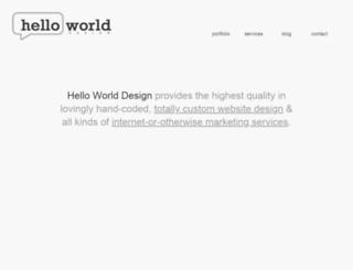 helloworlddesignco.com screenshot
