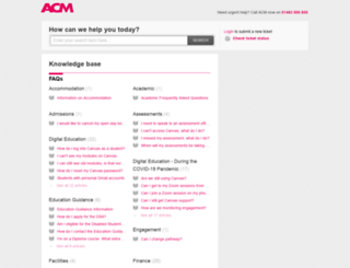 help.acm.ac.uk screenshot
