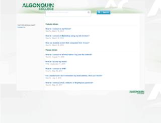 help.algonquincollege.com screenshot
