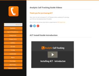 help.analyticcalltracking.com screenshot