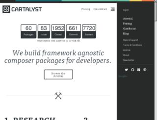 help.cartalyst.com screenshot