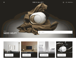 help.devialet.com screenshot