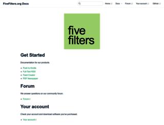 help.fivefilters.org screenshot