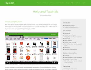 help.fluxiom.com screenshot