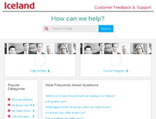 help.iceland.co.uk screenshot