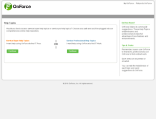 help.onforce.com screenshot