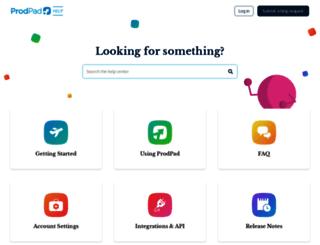 help.prodpad.com screenshot