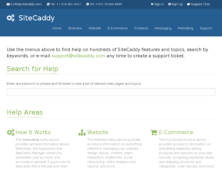 help.sitecaddy.com screenshot
