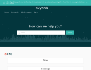 help.skycab.me screenshot
