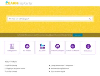 help.zearn.org screenshot