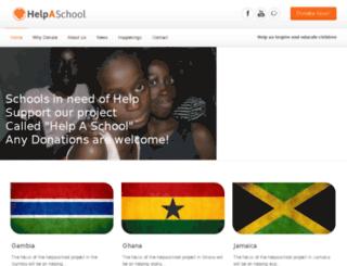 helpaschoolproject.com screenshot