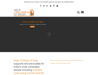 helpchildrenofindia.org screenshot