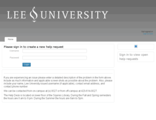 helpdesk.leeuniversity.edu screenshot