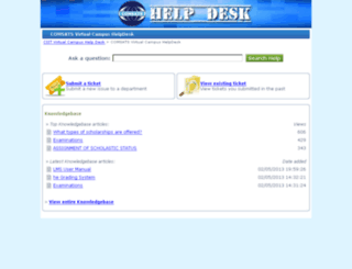 helpdesk.vcomsats.edu.pk screenshot