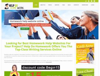 helpdohomework.com screenshot
