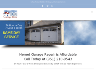 hemetgaragedoor.com screenshot