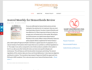 hemorrhoidshelp.net screenshot