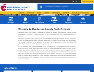 hendersoncountypublicschoolsnc.org screenshot