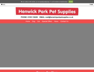 henwickparkpetsupplies.co.uk screenshot