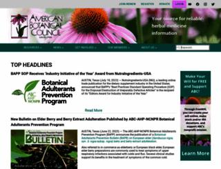 herbalgram.org screenshot