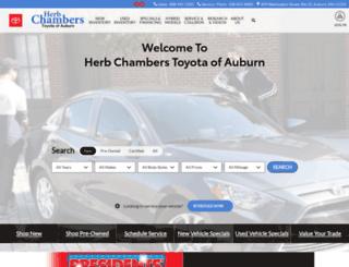 herbchamberstoyotaofauburn.com screenshot