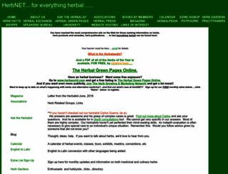 herbnet.com screenshot