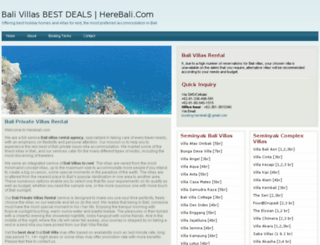 herebali.com screenshot